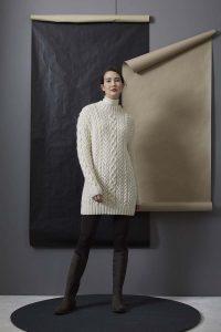 robe à torsades tricot lang yarns