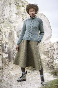 pull tricot femme à torsades