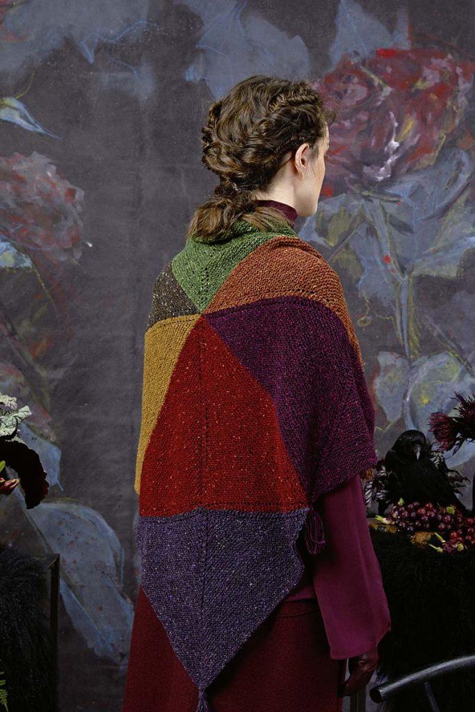 châle tricoté laine donegal lang yarns