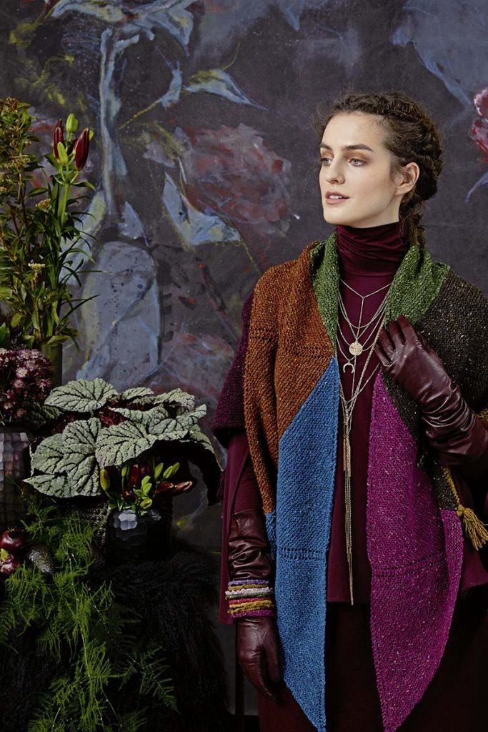 châle femme en laine tricot