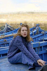 pull femme tricot avec torsades