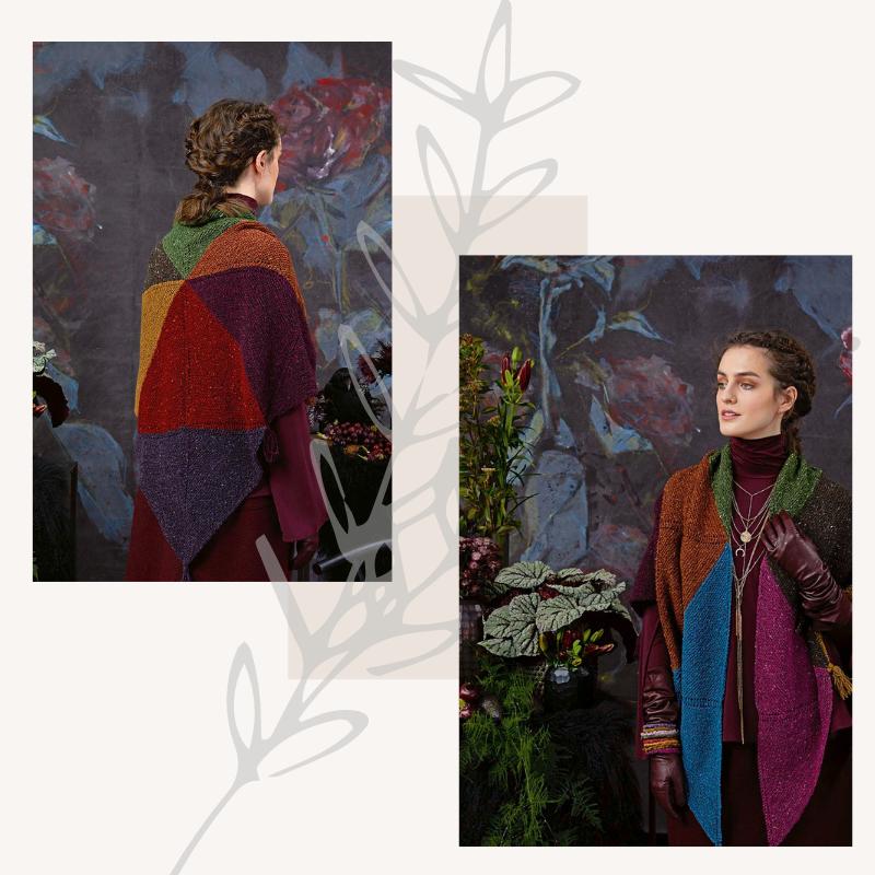 châle tricoté en laine donegal lang yarns