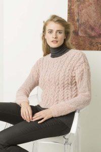 pull femme hiver rose