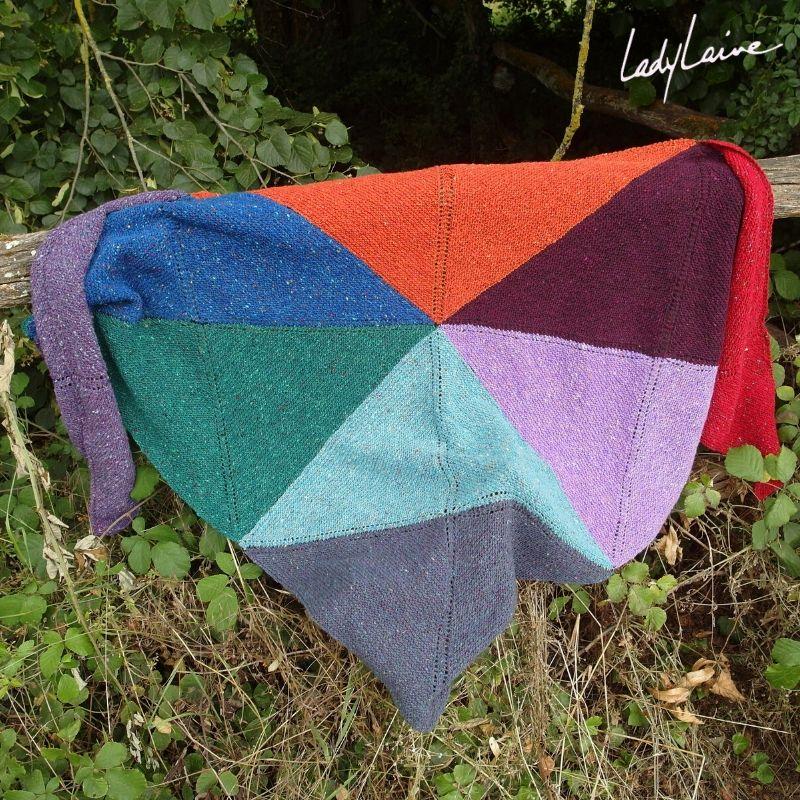 châle en laine donegal lang yarns