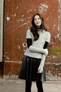 Mitaines hautes tricot
