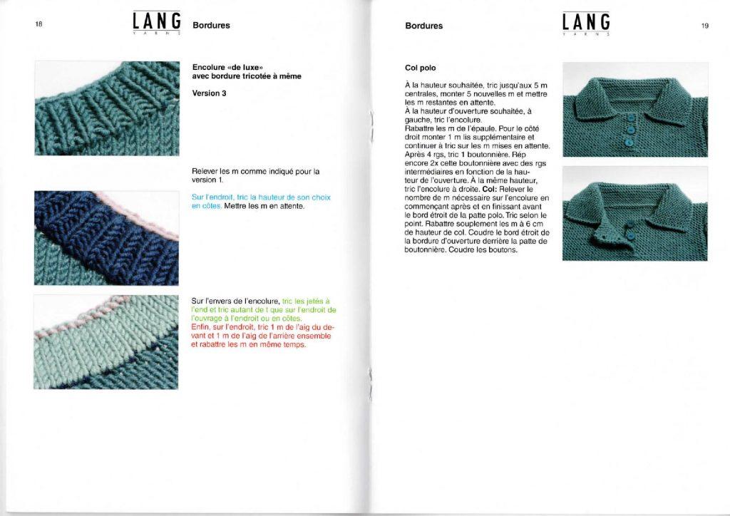 apprendre à tricoter une encolure