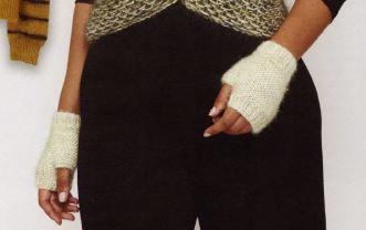 mitaines courtes laine