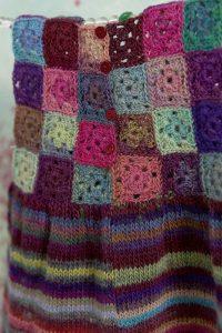 robe crochet granny square