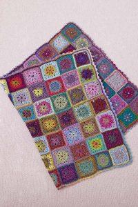 plaid granny square crochet