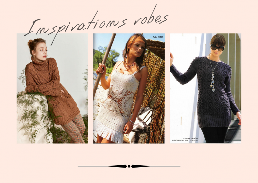 inspirations robes tricot et crochet