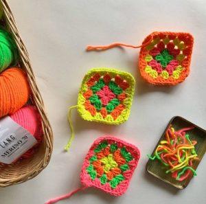 granny square laine