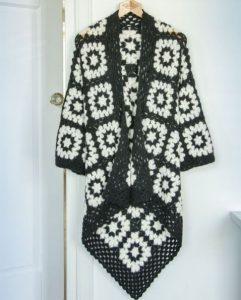 veste crochet carré