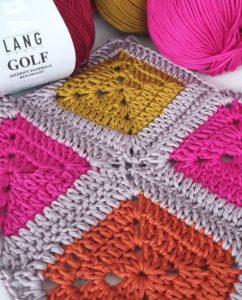carré crochet coton golf lang yarns