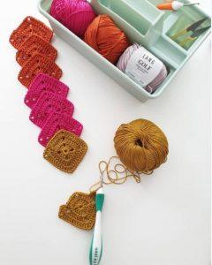 carré crochet coton