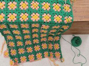 plaid carré crochet coton wooladdicts happiness