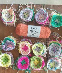 carré crochet laine jawoll lang yarns