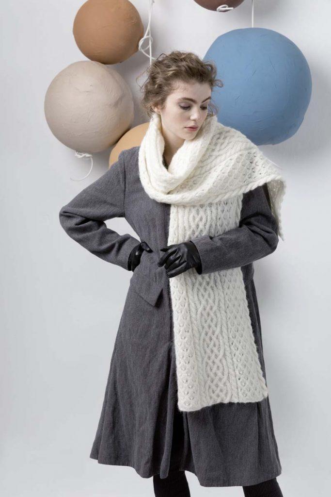 étole laine blanche