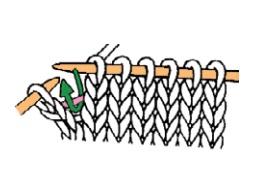 augmentation 1 maille du bord tricot