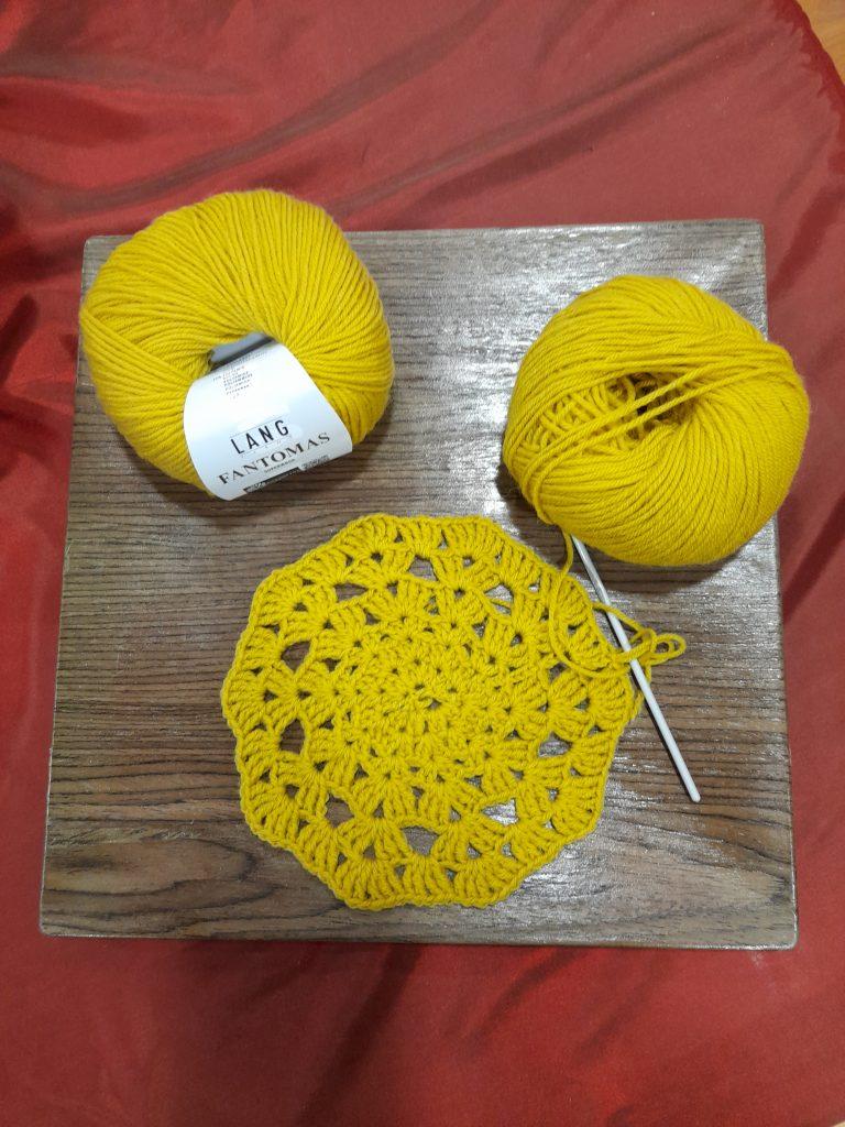 fleur crochet laine Fantomas Lang Yarns