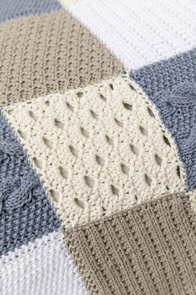 plaid tricot et crochet