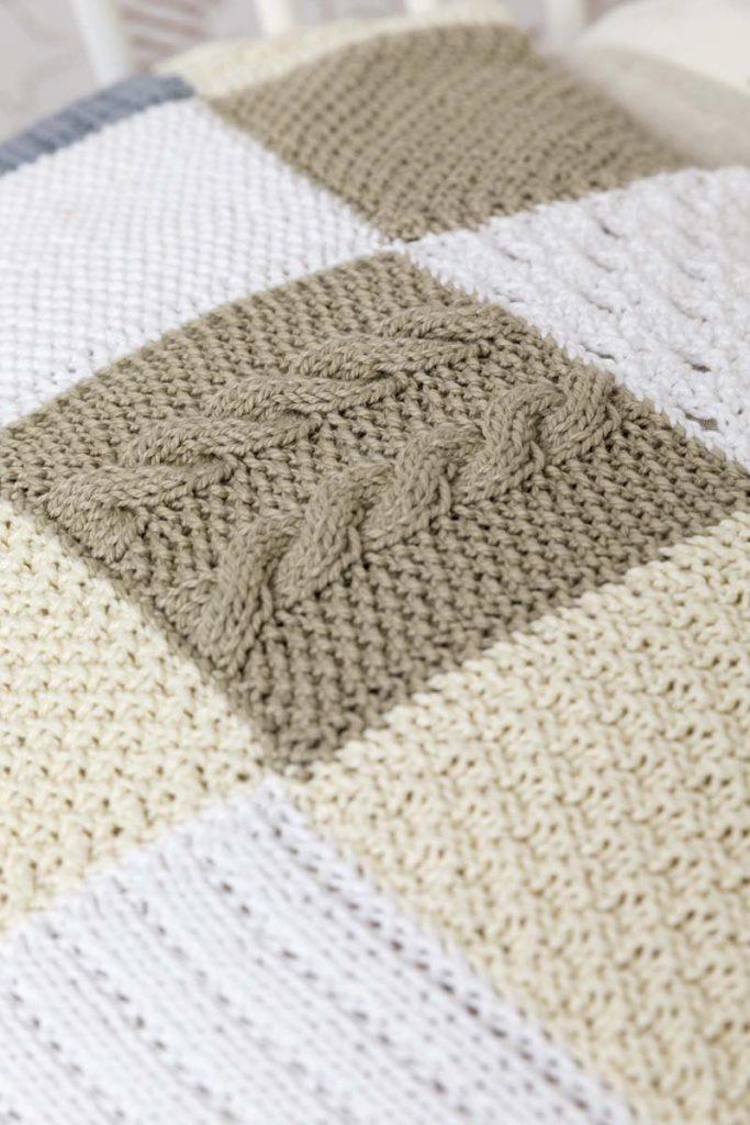couverture tricot et crochet