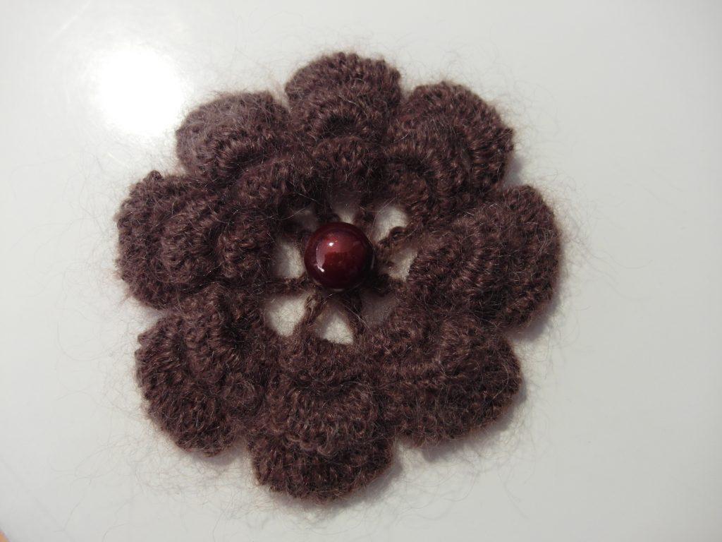 fleur plate crochet mohair