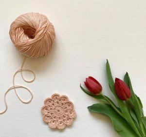 fleur crochet coton