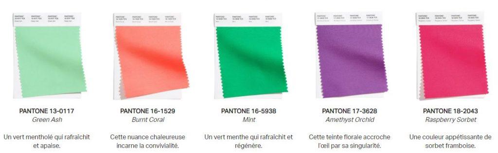 pantone couleurs 2021