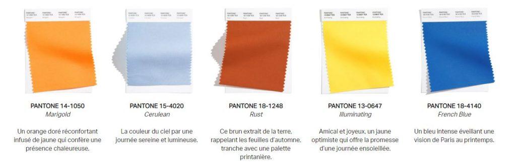 tendances couleurs pantone 2021