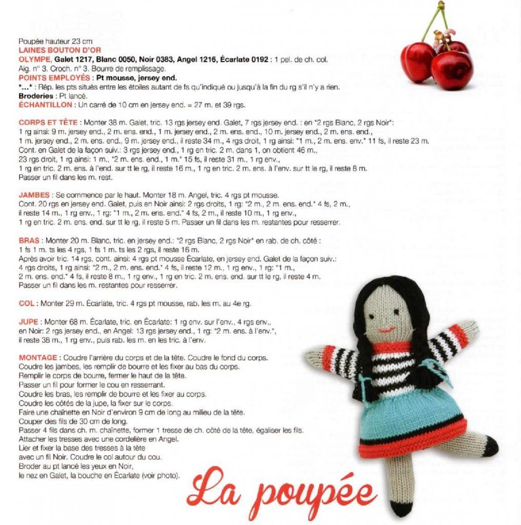 tricoter une poupée