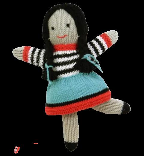 poupée fille tricot