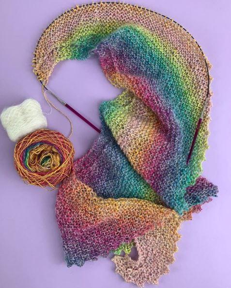 Modèle tricot châle