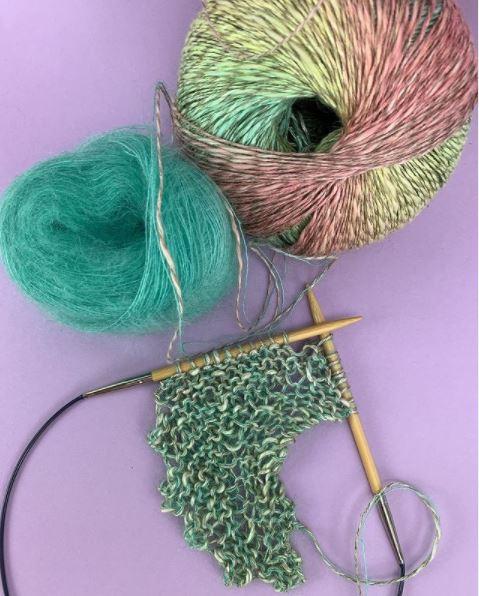 Autres couleurs châle en coton et mohair et soie