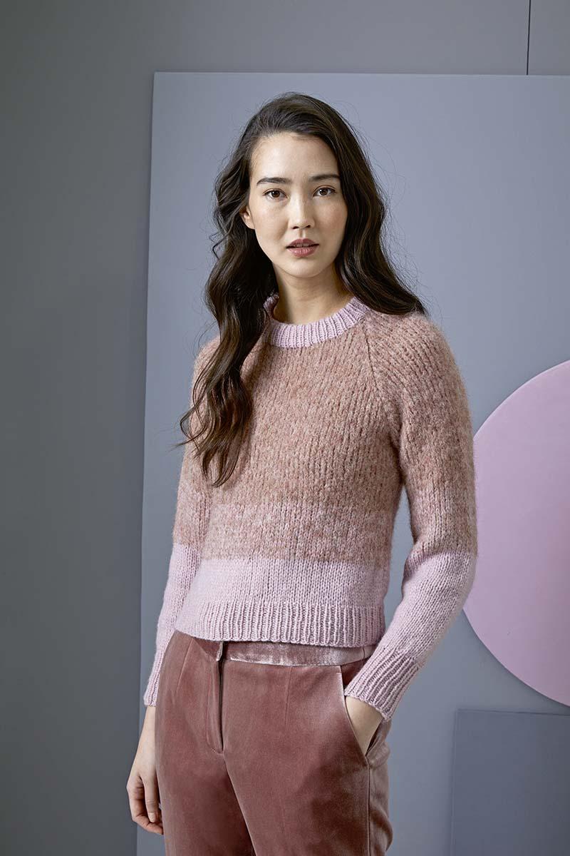 modele pull femme Lang Yarns
