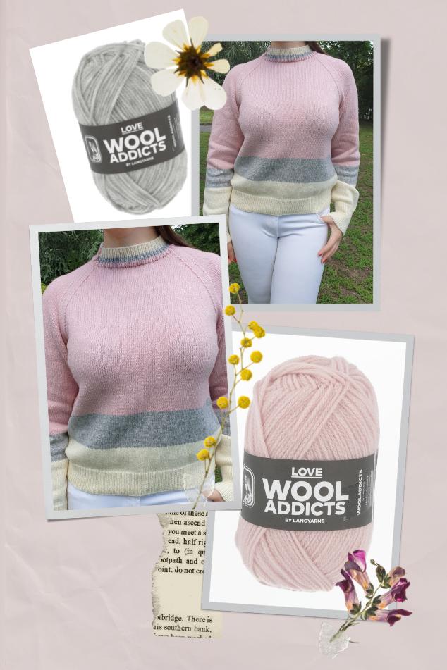 pull femme laine love wooladdicts