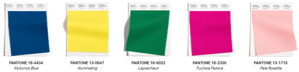 couleurs tendances pantone 2021