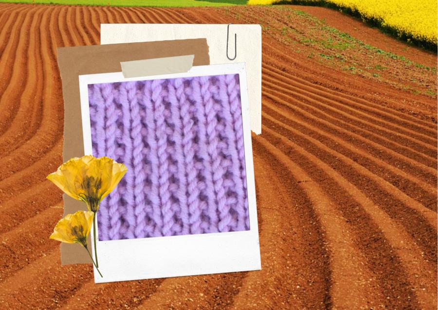 tricoter le point de sillon