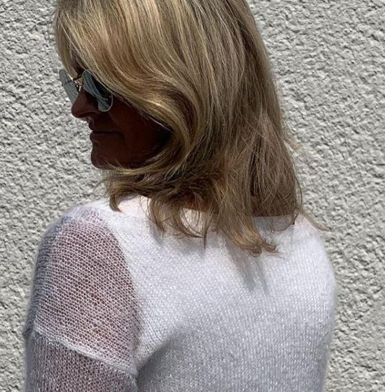 Pull en laine mohair Mohair Luxe et Paillettes de Lang Yarns