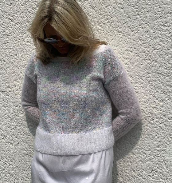 Pull mohair et paillettes Lang Yarns