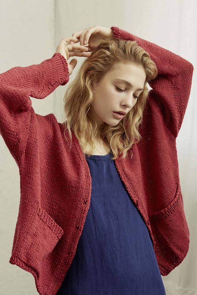 tricoter un gilet en coton
