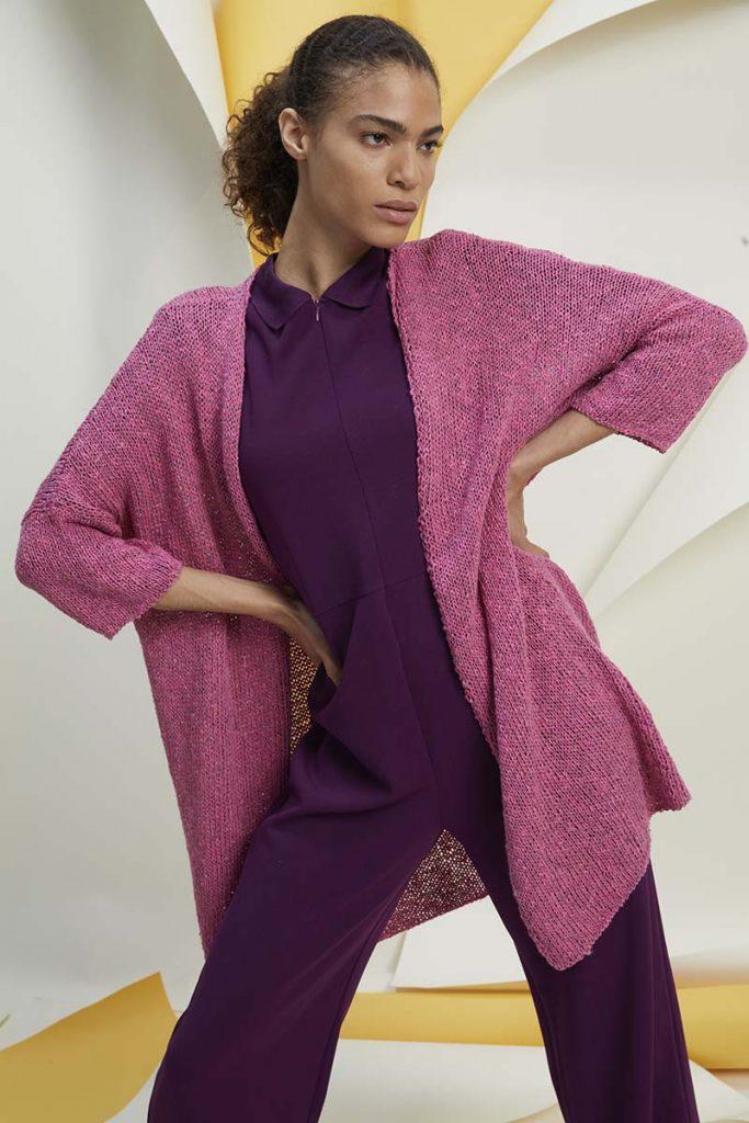 tricoter un gilet femme coton