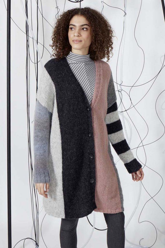 tricotr un gilet long