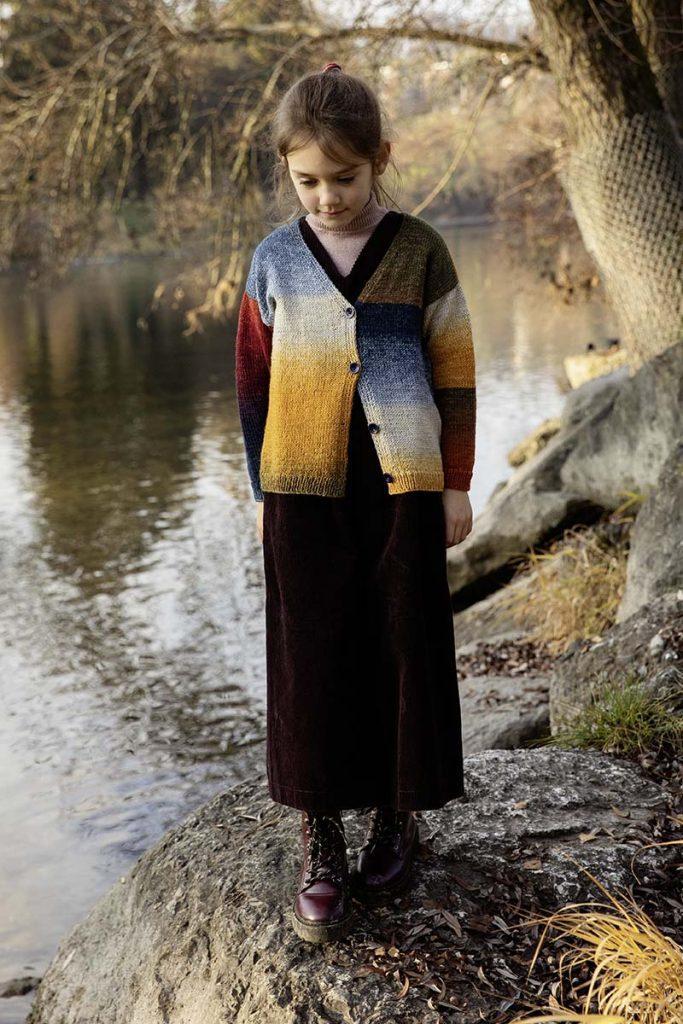 tricoter un gilet fille