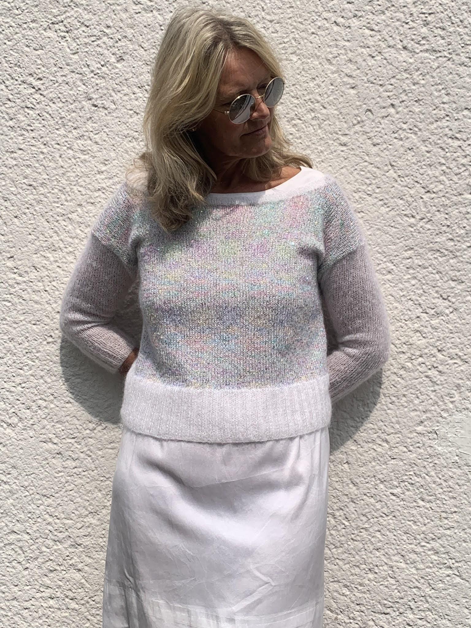 Pull en laine mohair Mohair Luxe et Pailettes