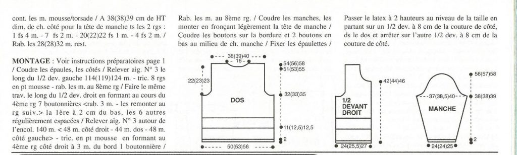 gilet croisiere superwash explications 2