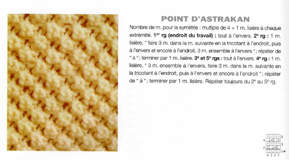 point astrakan tricot